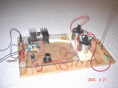 teslaboys jacobs ladder this is our jacobs ladder project it utilizes a 555 timer circuit and transistor to fire two automotive ignition coils the ladder rods can be seen on the